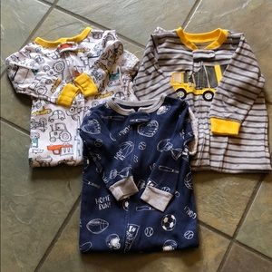 Carters 3 zip up footed sleepers 12 months